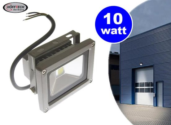Hofftech ledlamp Floodlight buitenlamp IP65 - 6400k - 10W - Kantelbaar