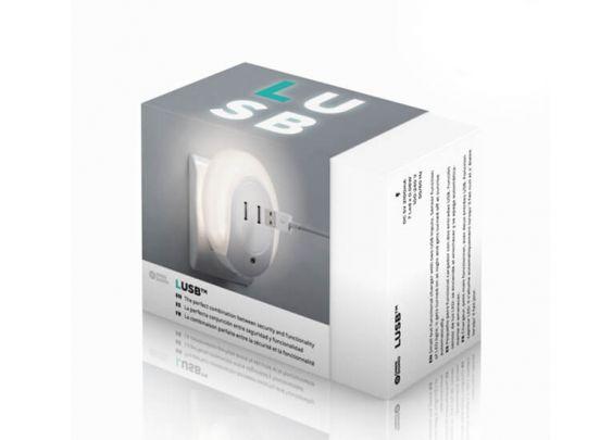 Handige en multifunctionele nachtlamp - Met 2 USB-poorten en lichtsensor