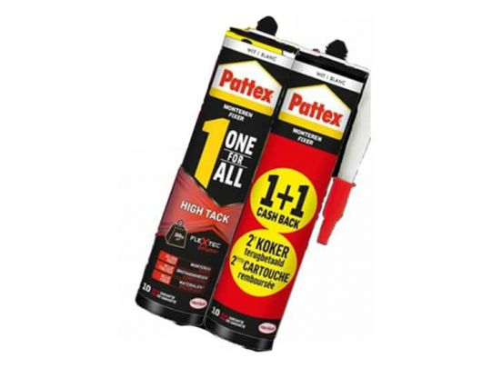 Pattex 1 one for all wit - 2 pack - Lijmen, monteren, afdichten en opvullen
