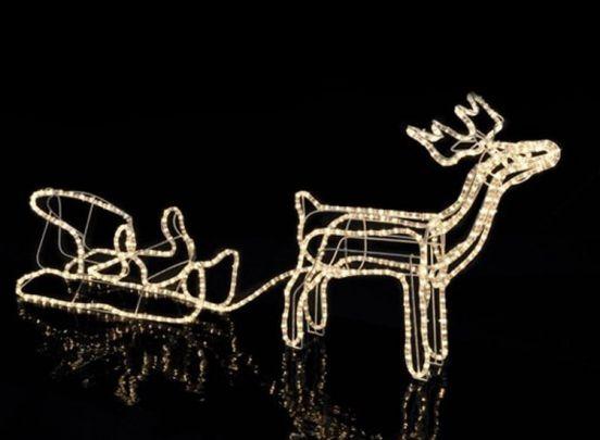 Rendier met slee en 432 led-lichtjes - Kerstverlichting voor binnen en buiten