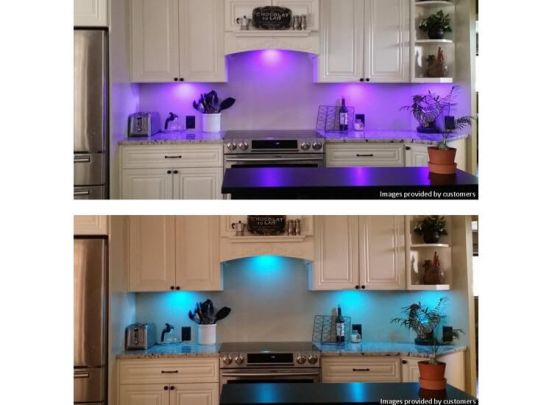 RGB led-spots - set van 4 stuks - 16 kleuren, 4 standen en dimbaar