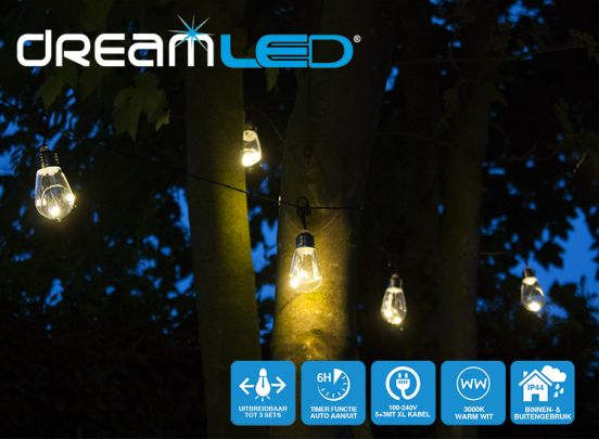 Dreamled 10x LED lamp met 3000K warm wit licht