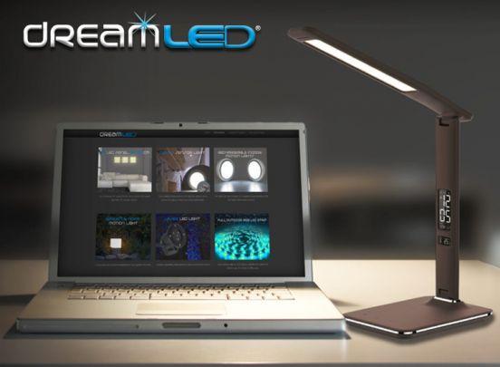 Dreamled Desk Leather Light - Geweldig mooie, luxe en multifunctionele bureaulamp