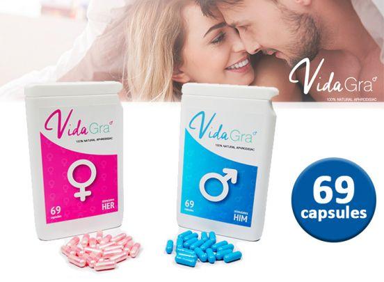 Lustopwekkend Vidagra voor Mannen en Vrouwen - 69 Capsules