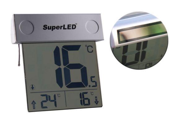 SuperLED Solar Raamthermometer