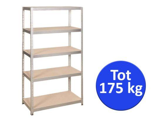 Metalen Stellingkast Keuken.Opbergrek Metaal 5 Planks 175kg 90x40x180 Cm Dealdonkey
