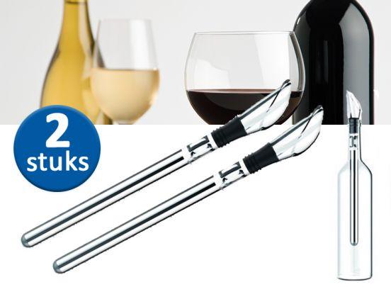 Magnani wijnkoeler sticks - 2 stuks - Direct je wijn, rosé of champagne ijskoud serveren