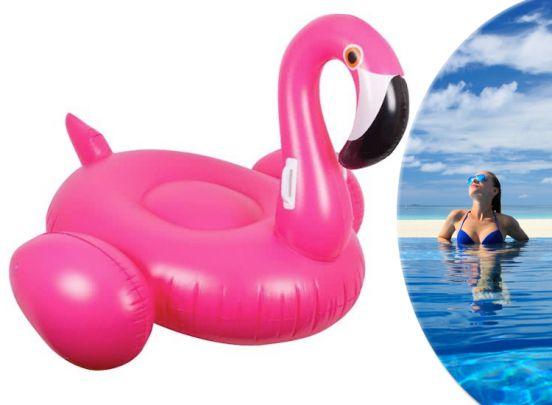 Zwemband flamingo - Heerlijk dobberen op je felroze flamingo