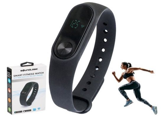 Smart fitness watch - Met hartslagmeter en stappenteller