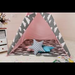 Tipi Tent voor Kinderen - Speeltent voor Kids - Wigwam Roze  - 91x14x16 cm