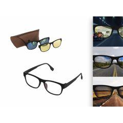 3 in 1 Zonnebril voor nachtzicht, UV-bescherming en extra helderheid