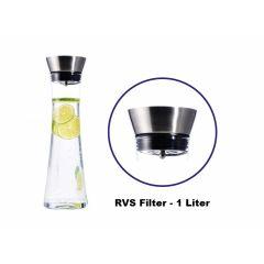 Waterkaraf - 1 Liter - Inclusief RVS Filter