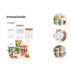 InnovaGoods Aanpasbaar en Luchtdicht Opbergbakjes voor Eten (Set van 3)