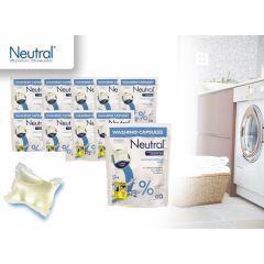 Neutral Wasmiddel -  0% Parfumvrij Wit Capsules - 100 wasbeurten