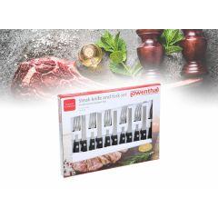 Steakmessen- en vorkenset - 12 delig
