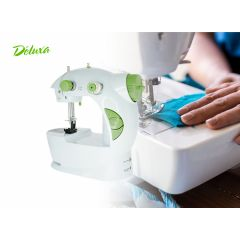 Deluxa mini naaimachine - groen