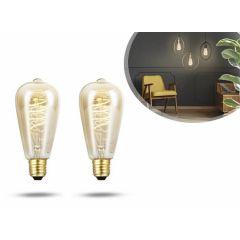 LED Kooldraadlamp 64mm 2-pack