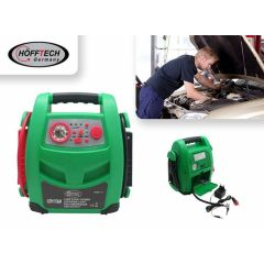 Hofftech Jumpstarter Compressor, USB, LED lamp, 12V 400A