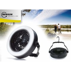 Ventilator en LED lamp, 2 in 1