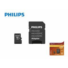 Philips Micro SDXC 128GB UHS-1 U1 met adapter