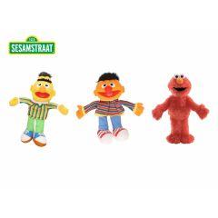 Sesamstraat knuffels - 3 stuks - Bert, Ernie en Elmo