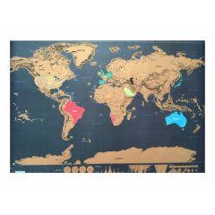 Wereldkaart kraskaart Wereld kaart 82,5 x 59,5 cm