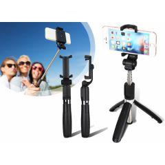 Foldable Mini Selfie Stick With Tripod - Black
