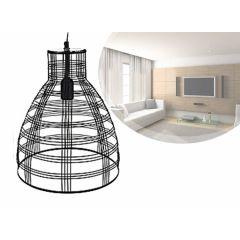 Industriële zwarte hanglamp - Hippe lamp met veel lichtval