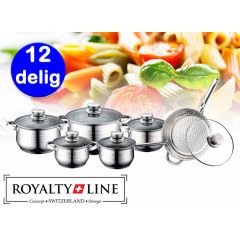 Royalty Line Luxe Pannenset - 12 delig - RVS