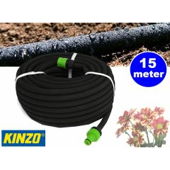 Kinzo druppelslang 15m - Waterbesparing van 50%