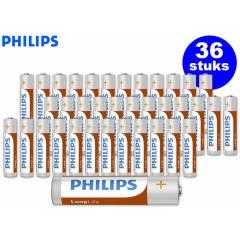 Philips LongLife batterijen - 36 stuks