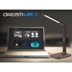Dreamled Desk Leather Light - Geweldig mooie, luxe en multifunctionele bureaulamp