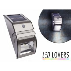 LED Lovers Solar LED Muurlamp Met Nacht- en Bewegingsensor
