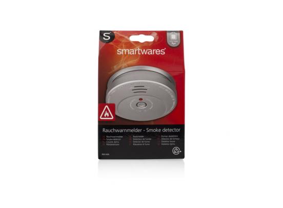 Smartwares RM 149A Rookmelder aluminium look - 5 jaar batterij - 2 stuks