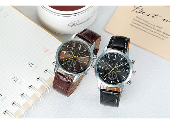 Luxe horlogebox voor drie horloges  + 2 GRATIS horloges