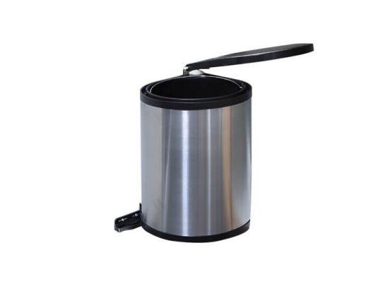 Uitschuifbare keukenkast prullenbak - 12 Liter - Uitneembaar - Opent en sluit vanzelf