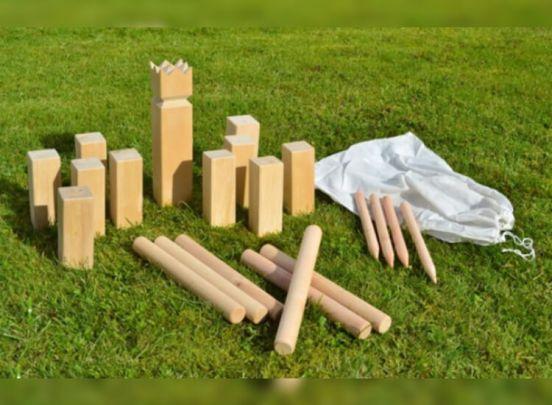 Kubb houten kegelspel - XXL
