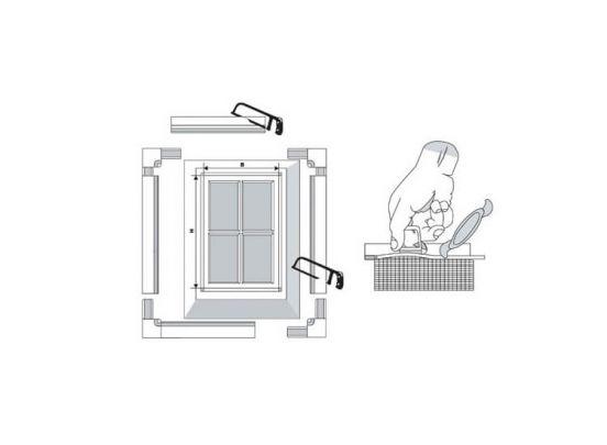 Inzet raamhorren - Zeer eenvoudig te plaatsen zonder boren en schroeven