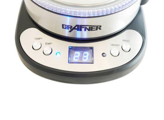 Grafner Glazen Waterkoker met LED - Verstelbare Temperatuur