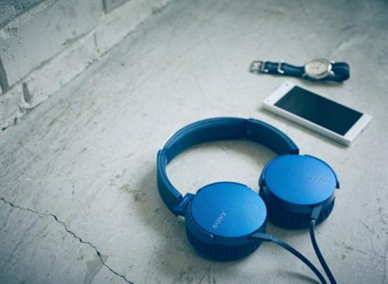 Sony MDR-XB550 extra bass koptelefoon - blauw