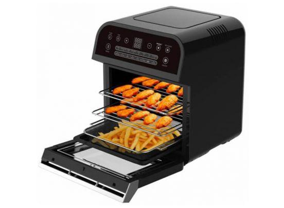 Cuisinier Deluxe Airfryer - Hetelucht Friteuse - 12 Liter/1600W