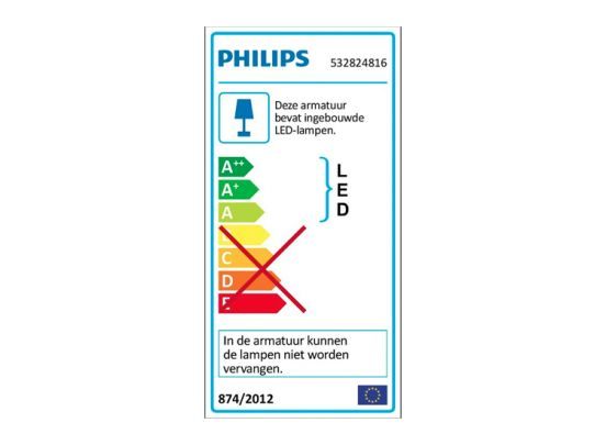 Philips myLiving Tweed - Plafondlamp - 2 Spots