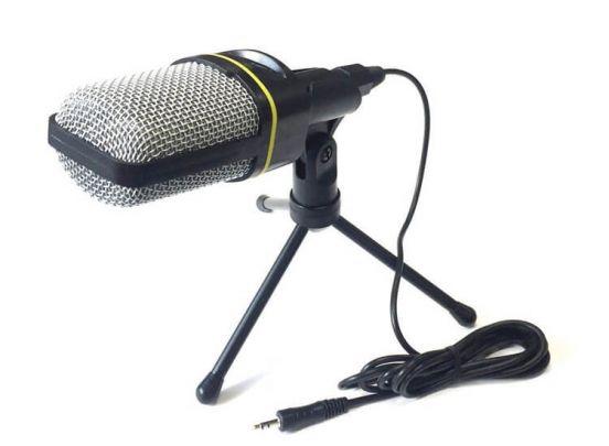 Professionele Microfoon voor PC met Tri-Pod - AUX-Aansluiting - Plug&Play