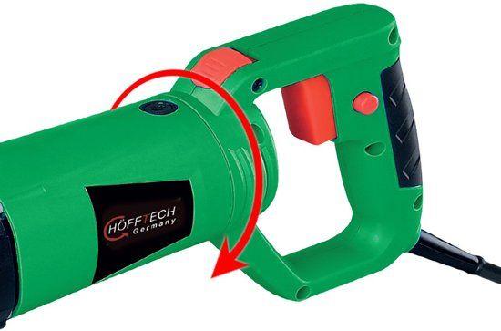 Höfftech Reciprozaag 115mm 710W - Met draaibaar handvat voor gips, hout en metaal