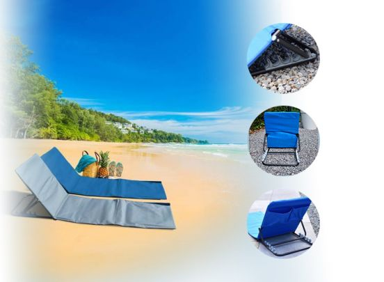 Opvouwbare strandmat met rugsteun
