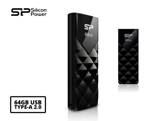Silicon Power 64GB Ultima U03 USB flash drive USB Type-A 2.0 Zwart