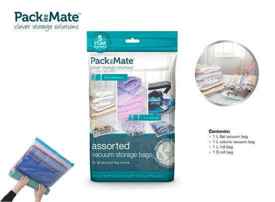 PackMate - Vacuüm Opbergzakken 4-delige set
