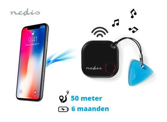 Nedis Bluetooth tracker - werkt tot 50m