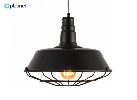 PLATINET PENDANT LAMP KRONOS P140608-M E27 METAL BLACK 36X28 [44026]