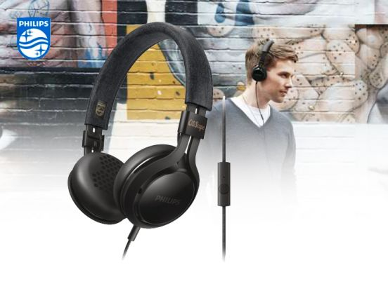 Philips Citiscape SHL5705 - On-ear koptelefoon - Zwart